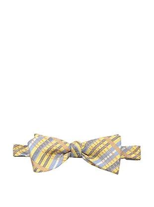 Bruno Piattelli Men's Plaid Bow Tie, Yellow/Orange