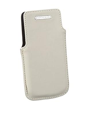 Porsche Design Case for IPhone - Cartera para carnet y tarjetas de cuero unisex, color blanco, talla 7x12x2 cm (B x H x T)