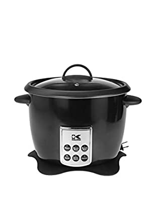 Kalorik Multifunction Digital Rice Cooker With Retractable Power Cord, Black