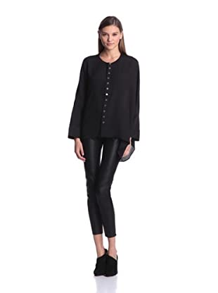 Calvin Klein Women's Cape Blouse (Black)