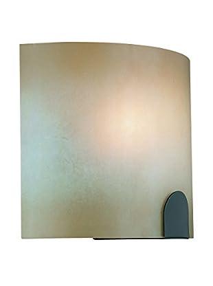 Lite Source Kennita 1-Light Wall Sconce, Dark Bronze/Light Amber