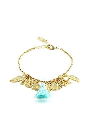 Ettika 18K Gold-Plated & Mint Charmed Life Bracelet