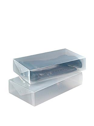 Wenko Set, 2-teilig Aufbewahrungsbox für Stiefel transparent one size