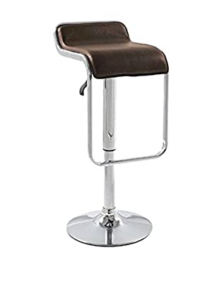 Manhattan Living Flat Bar Stool Chair, Brown