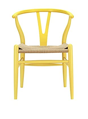 Modway Amish Wooden Dining Arm Chair, Yellow