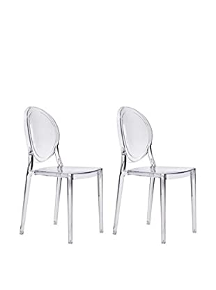 Zuo Set of 2 Specter Chairs, Clear