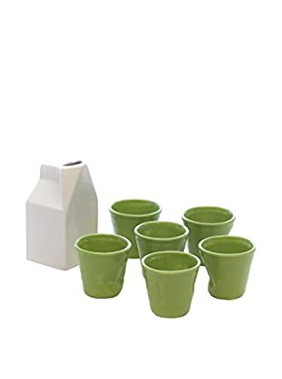 Kaleidos Espresso 7 tlg. Set weiß/grün