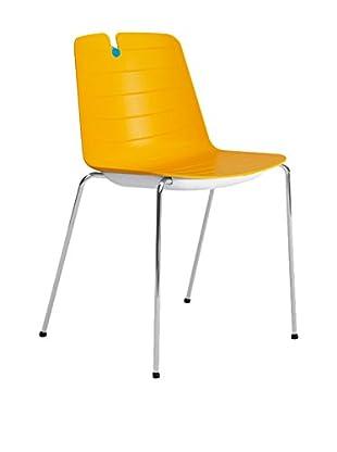 CONTRAST Stuhl 2er Set Mindy orange/blau