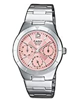 Casio Enticer Pink Dial Women's Watch - LTP-2069D-4AVDF (A379)
