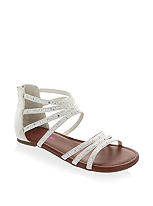 Kensie Girl Kid's Jeweled Zip Up Gladiator Sandal