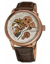 Akribos Manual Wind Rose Gold-Tone Skeleton Dial Mens Watch Ak538Br