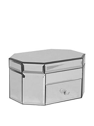 Three Hands Mirrored Jewelry Box, Small