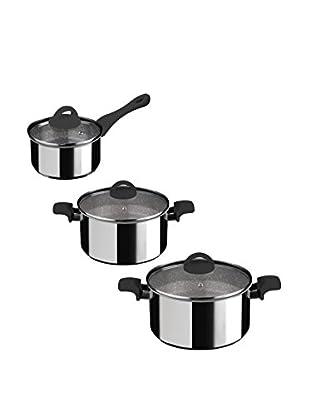 Mepra Fantasia Pietra 6-Piece Non-Stick Cookware Set, Black