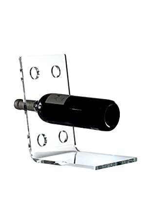 Torre and Tagus Acrylic Angle 6-Bottle Wine Rack