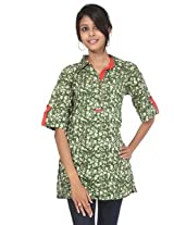 Rajrang Cotton Kurti - PTP00002 (Green)