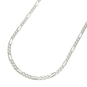 【クリックで詳細表示】新宿銀の蔵 シルバー925 フィガロチェーン 幅1.7mm 長さ40cm~60cm (60cm) 【ネックレスチェーン/鎖/シルバーアクセサリー】