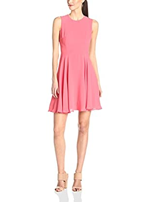 French Connection Vestido Ana Crepe S/Ls Flare