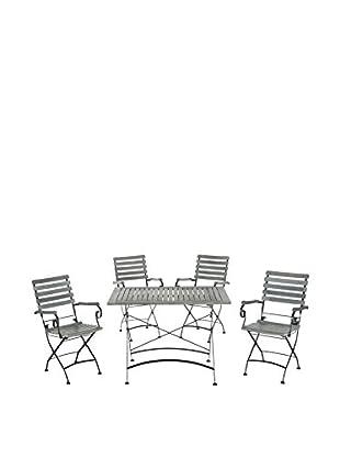 Safavieh Lawndale Outdoor Dining Set, Ash Grey