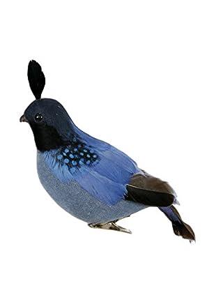 Winward Handcrafted Partridge Ornament, Blue