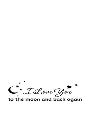 LO+DEMODA Wandtattoo Love You Moon