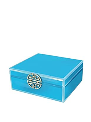 American Atelier Jewelry Box with Clasp, Teal