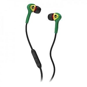 Skullcandy S2SBFY-058 Smokin Buds In-Ear Headphone with Mic (Rasta)