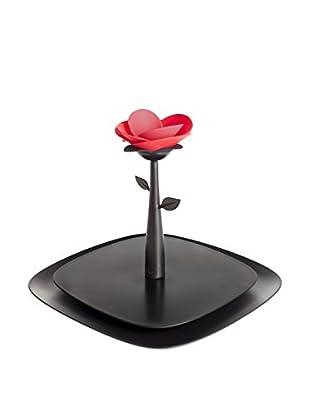 VIGAR Servilletero Rose Negro / Rojo