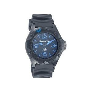Sonata Superfibre Analog Watch - For Men(Black)-7975PP04