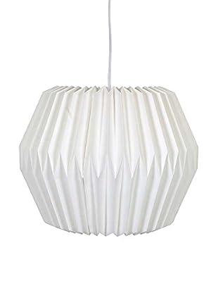 Paper Accordion Pendant Lamp, Cream