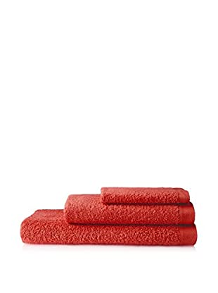AMR Set of 3 Bath Towels, Red