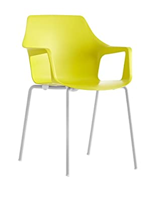 COLOS Set Silla 2 Uds. Vesper 2 Amarillo/Blanco