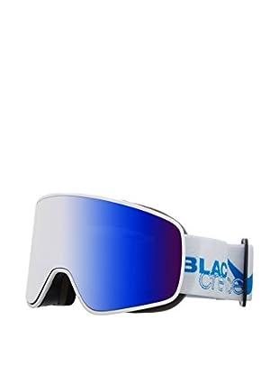 Black Crevice Skibrille Planai weiß/blau