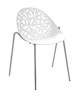 Contemporary Wood Set Silla 4 Uds. Eura white