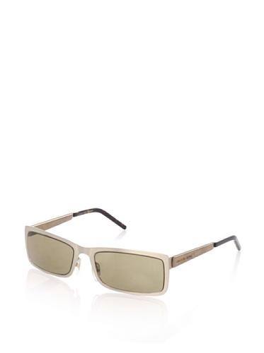 Alexander McQueen Women's AMQ 4131 Rectangular Sunglasses, Brushed Gold