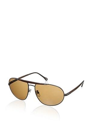 Ermenegildo Zegna Men's SZ3251-627P Polarized Aviator Sunglasses (Gunmetal)