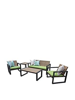 AE Outdoor Connelly 5-Piece Deep Seating Set, Green
