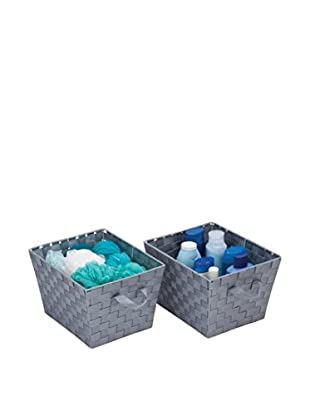 Honey-Can-Do Set of 2 Woven Baskets, Silver