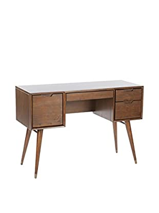 Control Brand The Mid Century Arvin 3-Drawer 1-Door Vanity Desk, Espresso