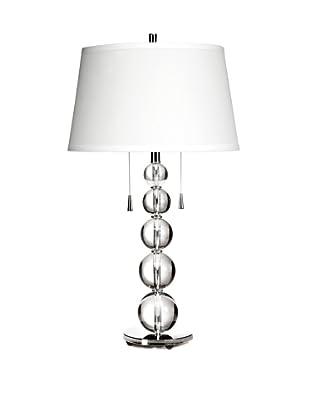 Trend Lighting 2-Light Palla Table Lamp, Crystal/Chrome