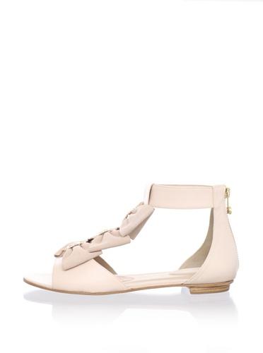 Kat Maconie Women's Audrey Bow Flat Sandal (Blush)
