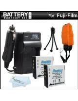 ButterflyPhoto 2 Pack Battery and Charger Kit for Select Fujifilm FinePix Waterproof Digital Cameras