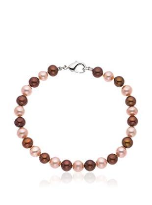 Compagnie générale des perles Braccialetto Rosso Scuro/Rosa