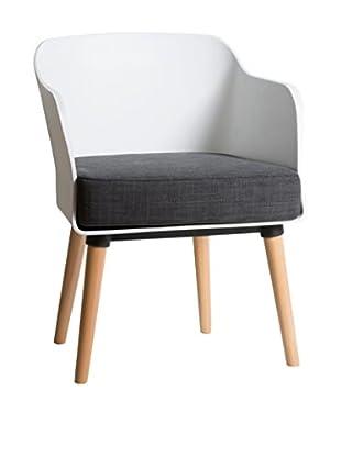 TOPAMBIENTES Sessel 2er Set weiß