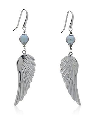 Misaki Pendientes Wings plata de ley 925 milésimas rodiada