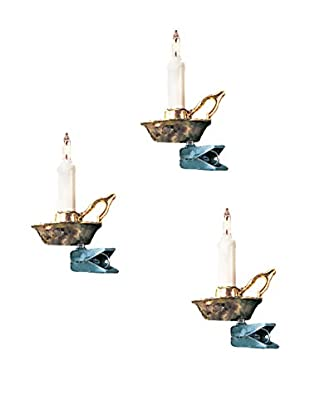 Kurt Adler 10-Light White Candle Set