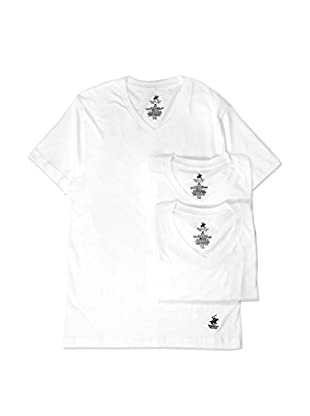 Beverly Hills Polo Club Men's V-Neck Tee 3-Pack