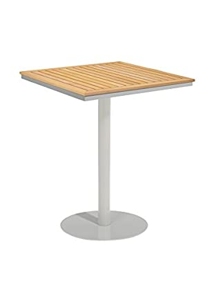 Oxford Garden Travira Square Bar Table, Teak/Aluminum