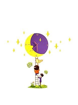 LO+DEMODA Wandtattoo Watch 3D Little Moon