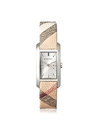 Burberry Women's BU9508 Nova Check Fabric/Silver Stainless Steel Watch