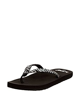 Reef Chanclas Little Uptown (Blanco/Negro)